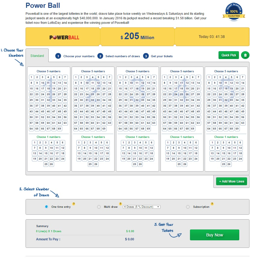 Powerball Online - LottoDay.com
