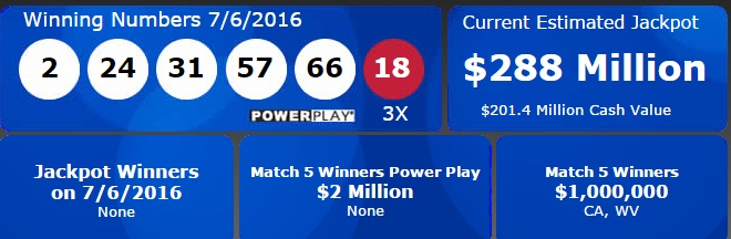 288-million-powerball