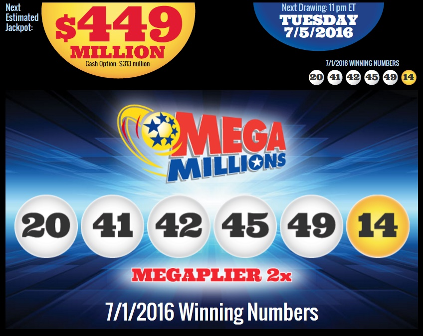 $449 million usa mega millions jackpot