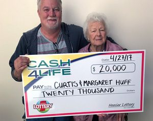 Curtis Huff and Margaret Huff win 20k in Cash4Life 2nd Chance