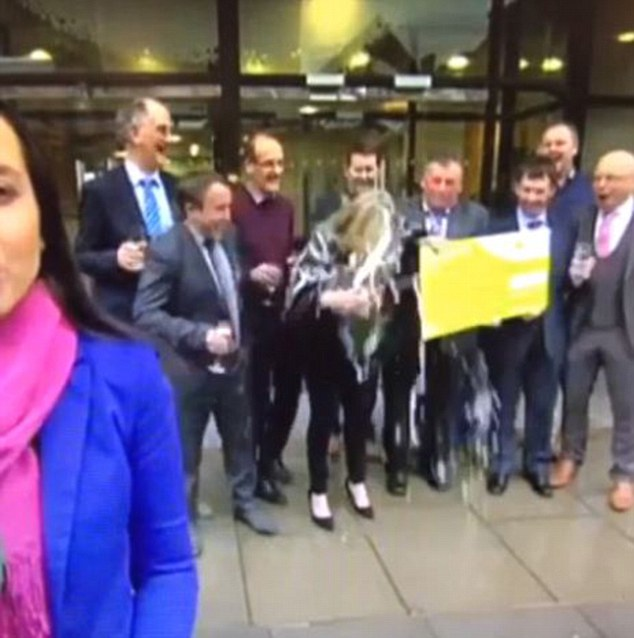 Irish Lotto Winner Accidentally Soaks Herself With A Whole Bottle Of Champagne On Live TV