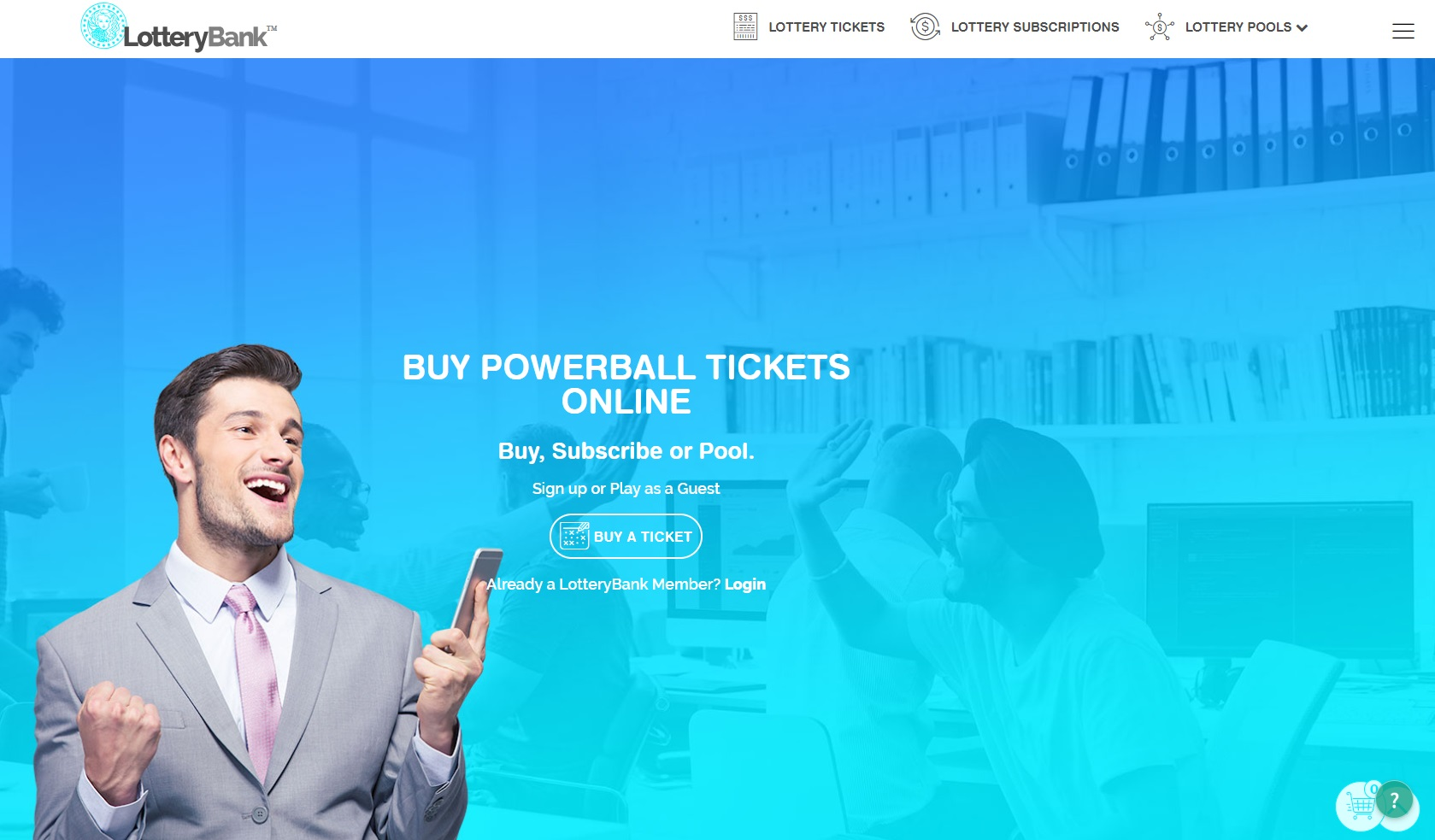 LotteryBank Review by Online Lottery Shop
